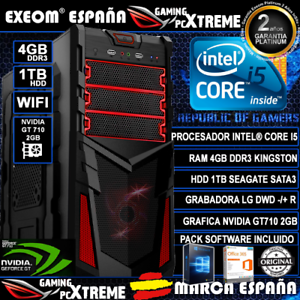 Ordenador-Gaming-Pc-Intel-i5-4GB-DDR3-1TB-GT710-2GB-WIFI-Windows-10-de-Sobremesa
