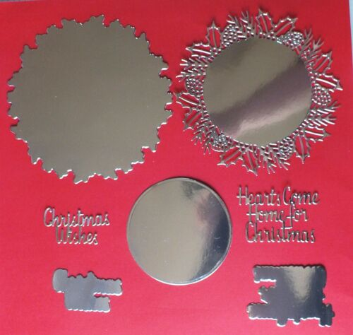 PAPER BOUTIQUE CHRISTMAS DOILY DIE CUTS SINGLE//MIXED COLOURS x 1 SET OF 28 CUTS