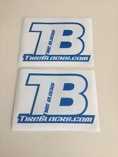 TIRE BLOCKS TB RACING 2X DECAL STICKER EMBLEM TRX450R LTR450R KFX400 TRX250R YFZ