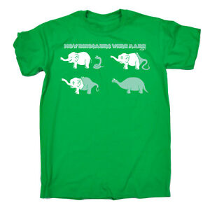 Funny-T-Shirt-How-Dinosaurs-Are-Made-Birthday-tee-Gift-Novelty-tshirt-T-SHIRT