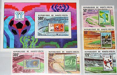 Treu Upper Volta Obervolta 1979 700-04 Block 52 Soccer World Cup 1978 Argentina Mnh Sparen Sie 50-70% Briefmarken