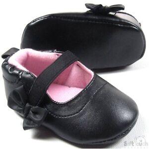 Soft-Touch-chaussures-bebe-noire-simili-3-a-12-mois