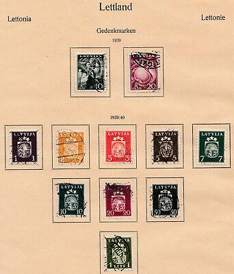 Gastfreundlich Lettland 1939/40 Gestempelte Minr 279 U 281-291 280 Minr Und 292-304