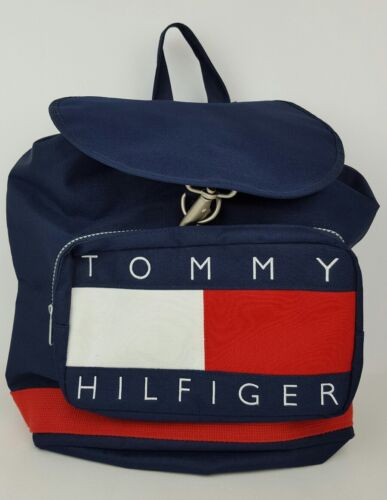 Vtg Tommy Hilfiger 90's Big Flag Logo Spell Out Na