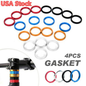 4pcs Bicycle  Spacer Road Bike Headset Washer Front Stem Fork SpacerZH