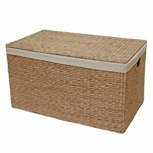Superieur Water Hyacinth Lined Trunk Wicker Toy Chest Storage