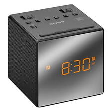 cde9f14ebea Sony ICF-C1T AM FM Alarm Clock Radio - Black With Mirror Face and
