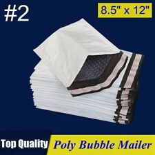2 85x12 Poly Bubble Mailer Padded Envelope Shipping Bag 85x12 2550100 Pcs