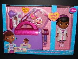 NEW Doc McStuffins Doctor's Bag Set + BONUS Doll ...