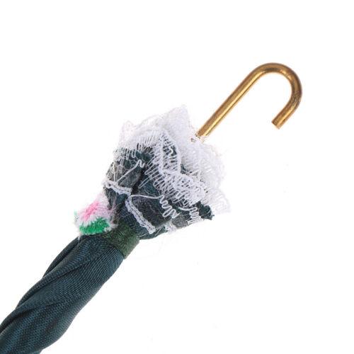 1Pc 1:12 maison de poupée miniature Dame royale dentelle parapluie Doll House