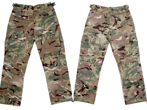 Enfants Garçons Armée MTP Camouflage Pantalon Militaire Pantalon Combat