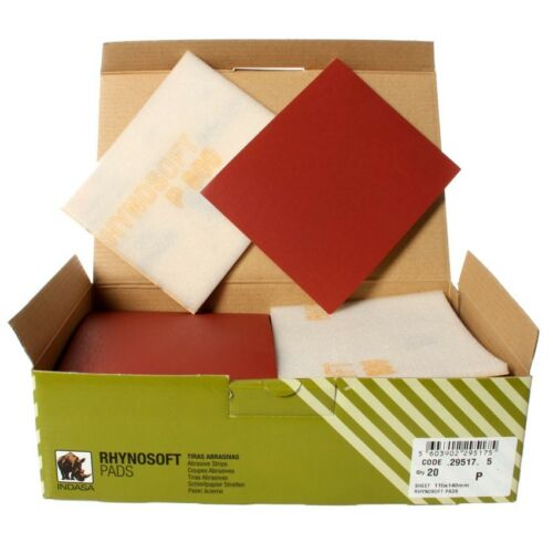 20 Schleifpads Schleifpapier Handpads INDASA Softpads Handschleifpapier P800