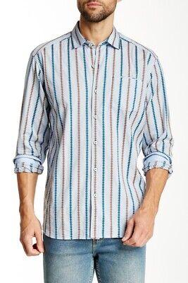 Tommy Bahama Men/'s Space Dye Cowboy Shirt T39351 Large L NWT $128 Cabo Blue