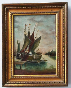 Listed-British-Artist-W-A-Underhill-19th-C-OIL-CANVAS-8-034-x11-5-034-Signed