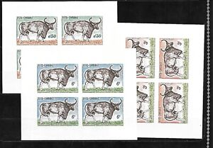 CAMBODIA-Sc-129-31-NH-issue-of-1964-IMPERF-MINISHEETS-ANIMALS