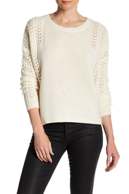 NEW 360 Cashmere Open Knit Sweater in Vanilla - Size L