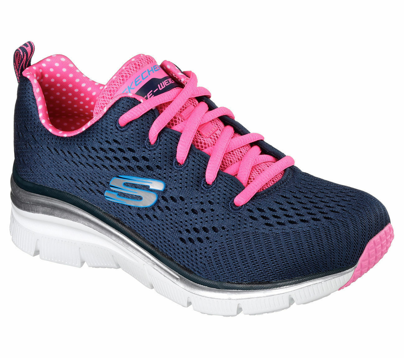 SKECHERS FASHION FIT-STATEMENT PIECE-NAVY HOT rose TG.DA 36 A 40-ART.12704 NVHP