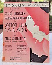 VINTAGE SHEET MUSIC - 1933 STORMY WEATHER BY TED KOEHLER & HAROLD ARLEN