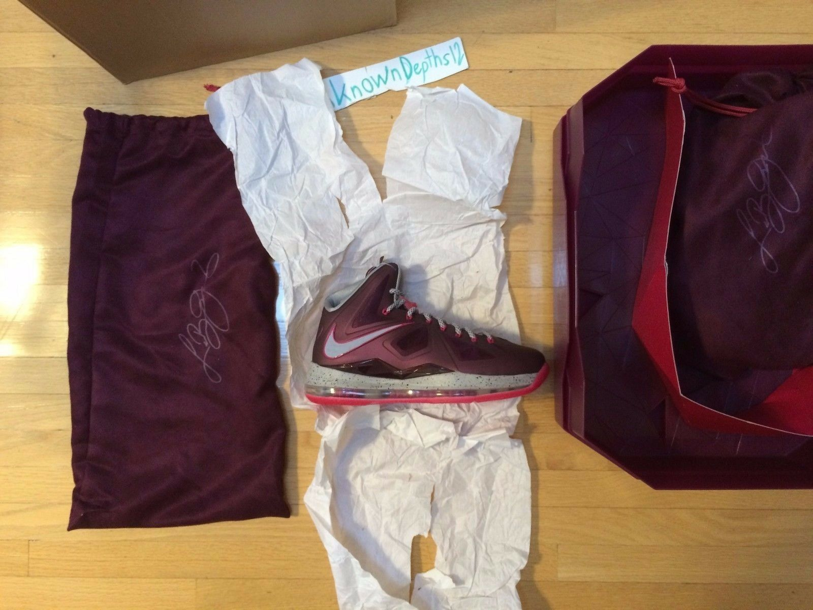 Nike Lebron X+ Sport Pack crown jewel DS size 7.5