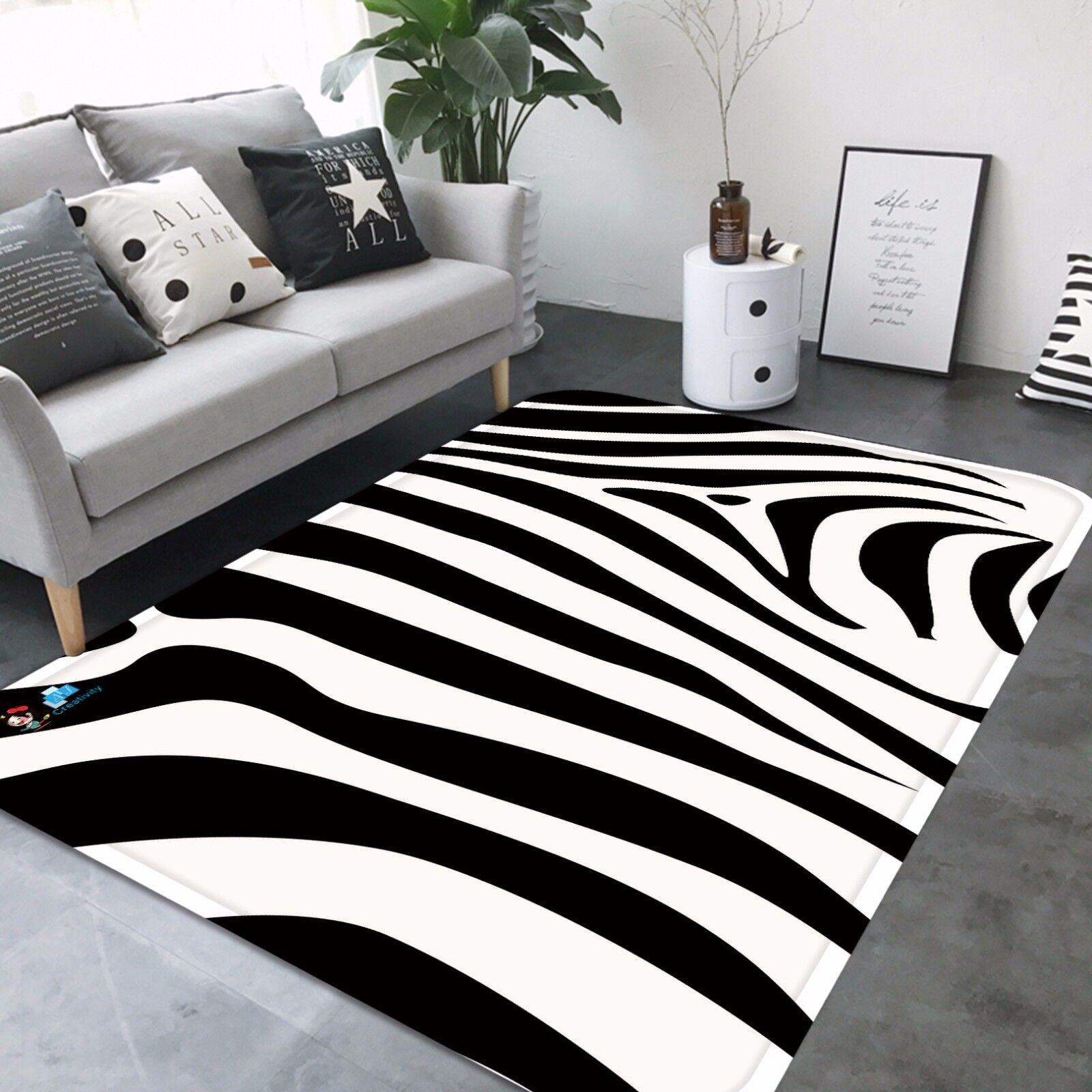 3d patrón de cebra 6 antideslizante alfombra de maletero calidad elegante alfombra de