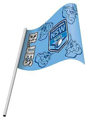 NRL State of Origin NSW Blues Small KIDS Flag Banner & Pole NEW Polyester 2015