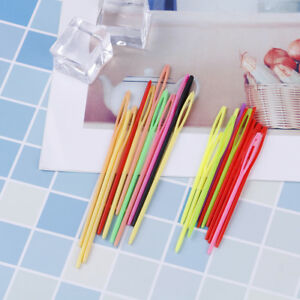 40Pcs-Multicolor-plastic-sewing-needles-DIY-craft-accessory-knit-sewing-needle-O