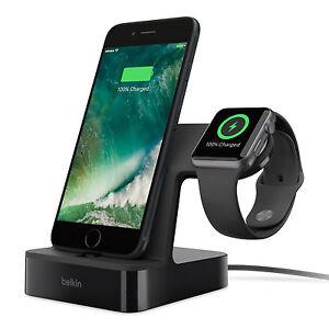 Belkin PowerHouse Charging Dock Station Holder Stand Black Apple Watch iPhone