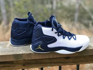 uk availability 669f2 63315 Details about Nike Air Jordan Melo M12 White/Gold Star/Midnight Navy Size  9.5