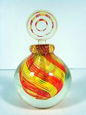 Luigi Onesto Oball Murano Sommerso Art Glass Perfume Bottle Yellow