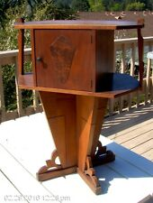 """Antique Copper Lined Tobacco HUMIDOR MAGAZINE RACK 25 1/2"""" tall x 20 1/4"""" x 11"""""""