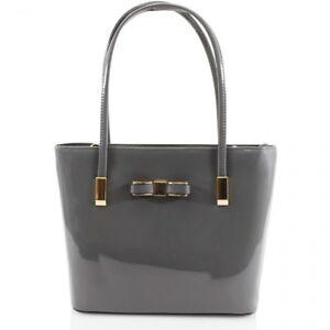 Details About Las 2016 Shiny Patent Bow Handbag Women Shoulder Bag Grab S Fancy Bags