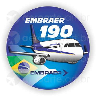 Embraer 190 aircraft sticker