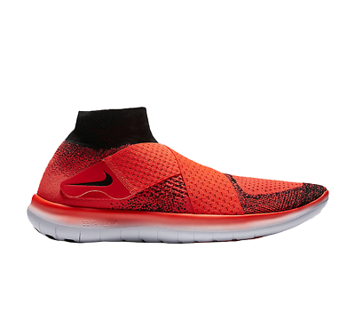 NIKE Free RN Motion FK Flyknit 2017 Mens Sz 10.5 Shoes Bright Crimson 880845 600