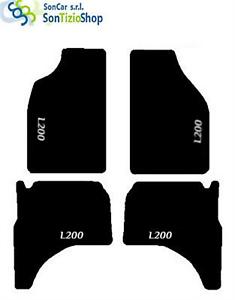 L200 bianco TAPPETI MITSUBISHI L200 1996-05 4 Fix Universali! DECORO