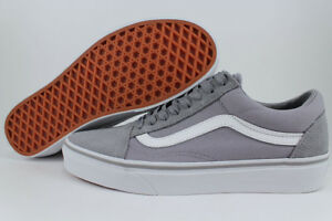 bd1c3dcdb88 VANS OLD SKOOL FROST GRAY TRUE WHITE SUEDE CANVAS SKATE SK8 LOW US ...