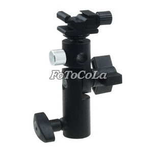Swivel-Flash-hot-shoe-umbrella-holder-for-studio-light-stand-bracket-type-E-II