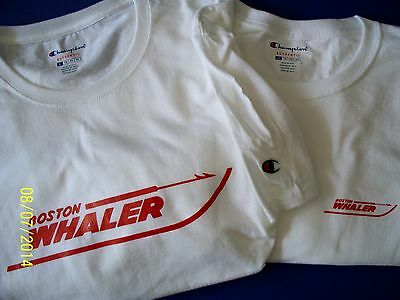 Two Maroon Chris Craft Screen Printed Champion T-Shirts 6.1 oz Heavy Boat