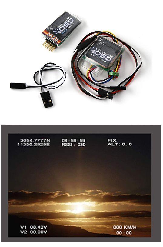 RC Mini OSD System & GPS Module for FPV VTX Cam Fatshark ImmersionRC Drone Plane