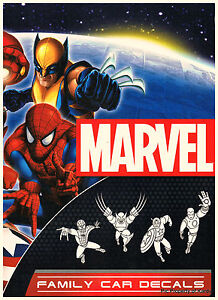 Image is loading Spider-Man-Wolverine-Captain-America-Iron-Man-Family-