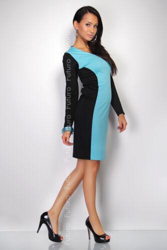 Lovely Optical Slimming Women/'s Dress V-Neck Long Sleeve Sizes 10-16 FK1202