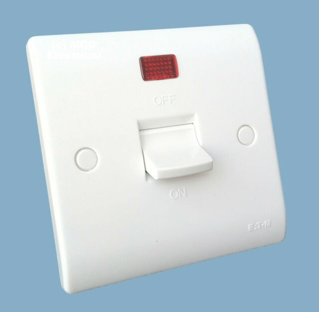 Eaton MEM P422N 50a Double Pole Switch With Neon. Shower / Cooker ...