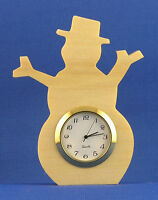 Snowman Mini Clock - Hand Cut W/ Choice Of Insert
