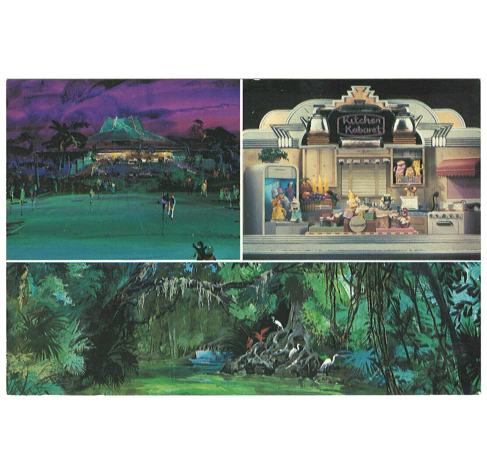 Disney Unused Postcard Wdw Epcot Pre Opening Artist Rendition Kitchen Kabaret Ebay