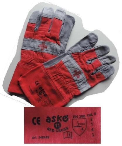 Askö Schutzhandschuhe Rotes Kreuz in Grau//Rot Rettungsdiensthandschuhe