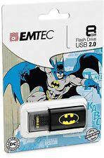 Brand NEW 8GB EMTEC C600 Batman PACK SINGOLO USB 2.0 FLASH PEN DRIVE