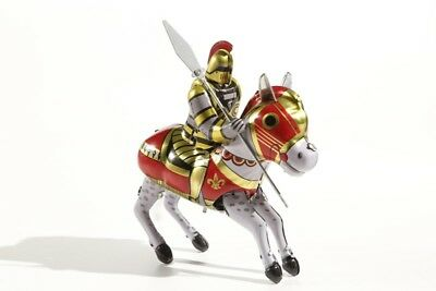 °° Tin Toy °° Blechspielzeug Ritter Auf Pferd Willensstark federaufzug