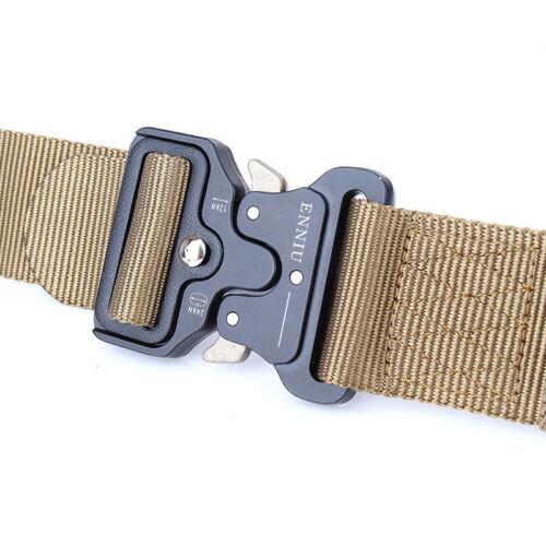 "49*1.77/"" ENNIU Men Tactical Buckle Belt Military Nylon Belt Training Belt Strap"