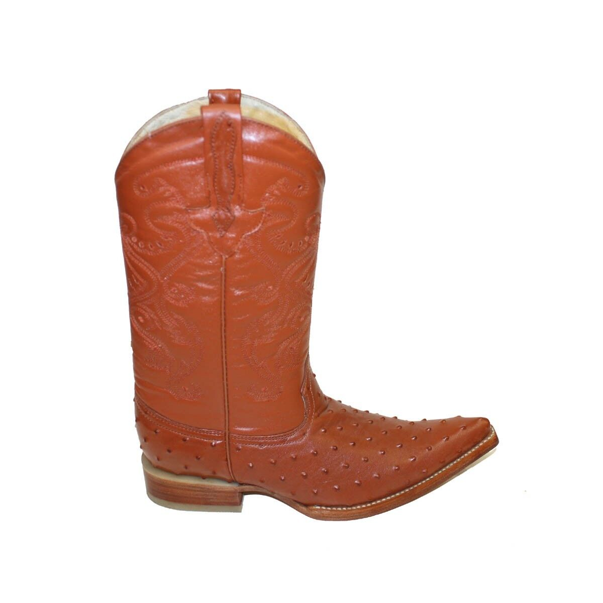Ostrich Leather  Cowboy Boots Western Cowboy Work 3X Long FANCY BOOTS BEST PRICE