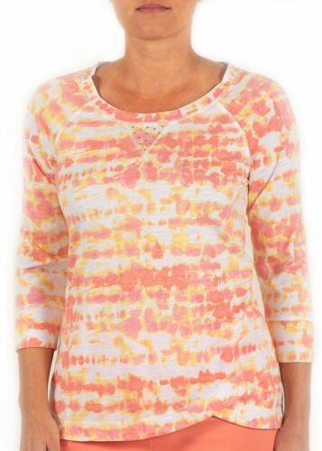 Hearts of Palm petite Tie Dye Print Embelli Haut