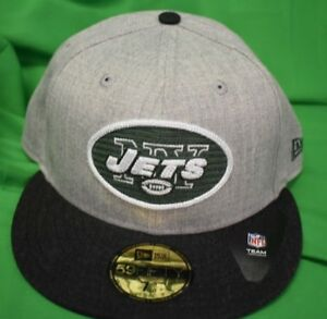 ecfb4ff621a New Era 59Fifty NFL New York Jets Heather Crisp Fitted Hat Cap New ...